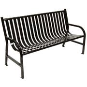 Witt Industries Black Oakley Slatted Metal Outdoor Bench, 60 x 34 x 24 inch -- 1 each.