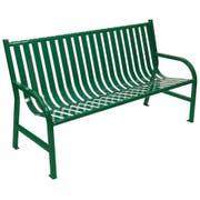 Witt Industries Green Oakley Slatted Metal Outdoor Bench, 60 x 34 x 24 inch -- 1 each.