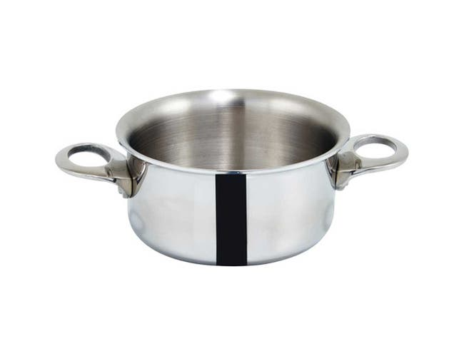 Winco Stainless Steel Plated Mini Casserole, 3.75 inch -- 6 per case.