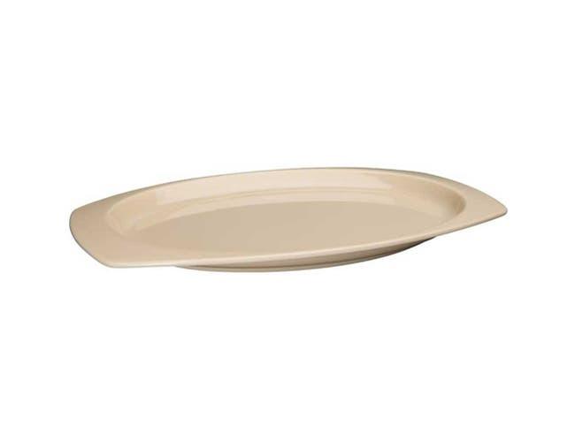 Winco Melamine Tan Rectangular Platter, 12 1/2 x 9 inch -- 2 per case.