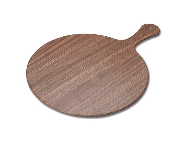 Winco Ardesia Semone Melamine Wood Color Round Platter, 11 7/8 inch Dia -- 12 per case.