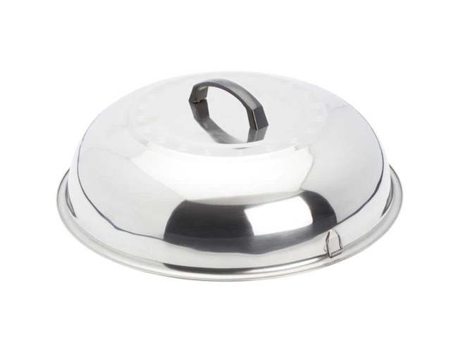 Winco Stainless Steel Mirror Finish Wok Cover, 15 3/8 inch -- 12 per case.