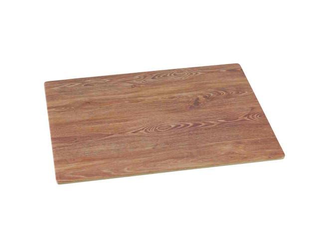 Yanco WD-213 Rectangular Wooden Tray, 12.5 x 10 inch, Melamine, White -- 24 per case.