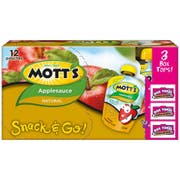 Motts Unsweetened Natural Applesauce, 3.2 Ounce Pouch -- 48 per case.