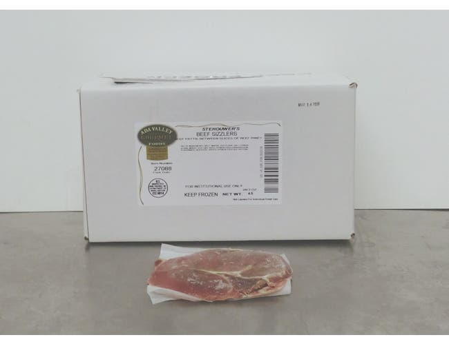 Ada Valley Gourmet Foods Beef Sizzler with Patty Pepper Jack Stehouwer, 5 Ounce -- 32 per case.