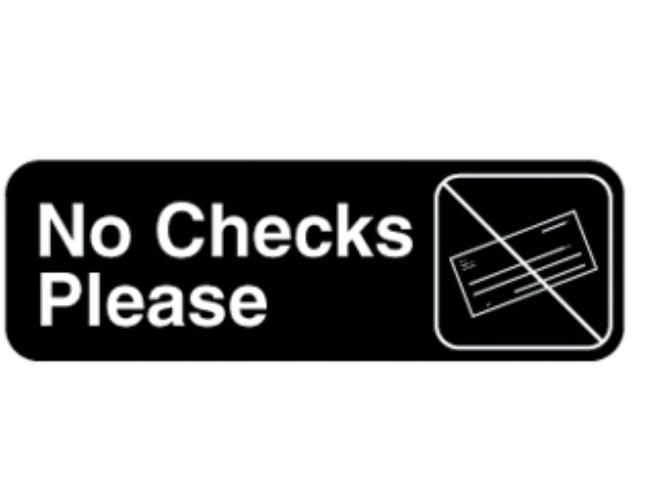 Vollrath No Check Please Sign -- 1 each.