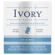 Simply Ivory Bar Soap, 3.1 Ounce - 3 per pack -- 24 packs per case.