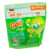 Gain Pods Flings Original Detergent Liquid, 16 count per pack -- 6 per case.