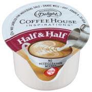 International Delight Coffee House Inspirations Half and Half Unflavored Creamer -- 384 per case.