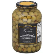 Seville 110/120 Stuffed Green Queen Olives, 1 Gallon -- 4 per case.