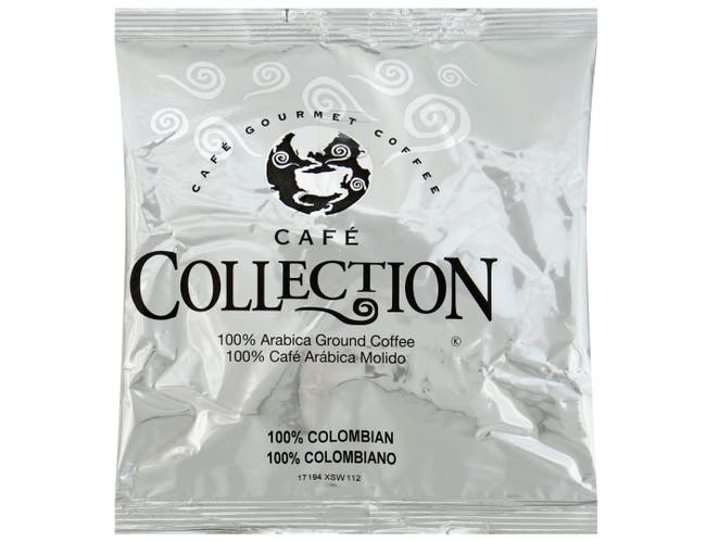 Cafe Collection 100 Percent Columbian Caffeinated Coffee, 7 Ounce -- 45 per case.