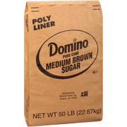 Domino Pure Cane Medium Brown Sugar, 50 pound -- 1 each