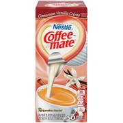 Coffee-Mate Cinnamon Vanilla Creme Liquid Creamer - 50/0.375 oz. cups per box, 4 boxes per case
