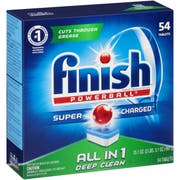 FINISH Powerball Dishwasher Tabs, Fresh Scent, 60 Tabs/Box, 4 Boxes/Carton