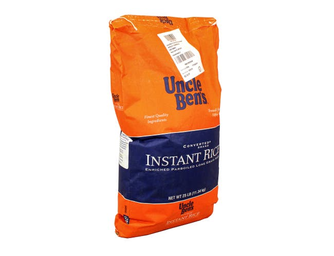 Uncle Ben's Instant Long Grain White Rice, 25 pound -- 1 each