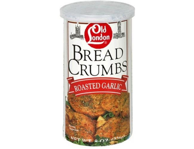 Old London Foods Roasted Garlic Bread Crumbs, 8 Ounce -- 12 per case.