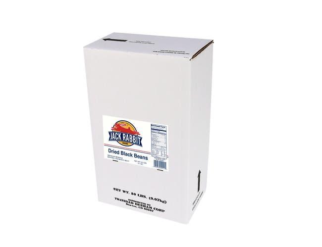 Jack Rabbit Black Beans - 20 lb. package, 1 package per case