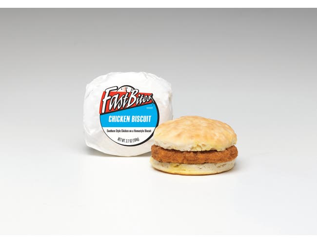 Fast Bites Chicken Biscuit, 3.7 Ounce -- 12 per case.