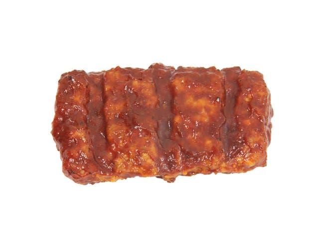 Advance Pierre Boneless BBQ Pork Rib Patty, 3.1 Ounce -- 48 per case.
