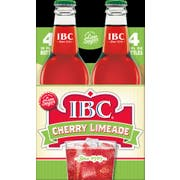 IBC Cherry Limeade with Sugar, 12 Ounce Glass Bottle -- 6 per case.