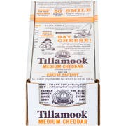 Tillamook Medium Portions Cheddar Cheese, 0.75 Ounce -- 100 per case.