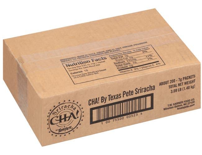 Texas Pete Sriracha Cha Hot Chile Sauce, 7 Gram -- 200 per case.
