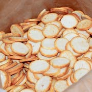 New York Style Garlic Mini Bagel Chips, 10 pounds -- 1 each