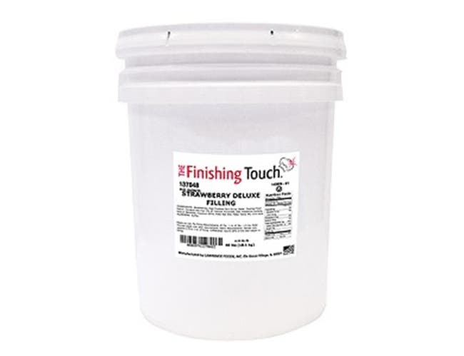 Lawrence Foods Strawberry Filling, 4.25 Gallon Pail -- 1 each.