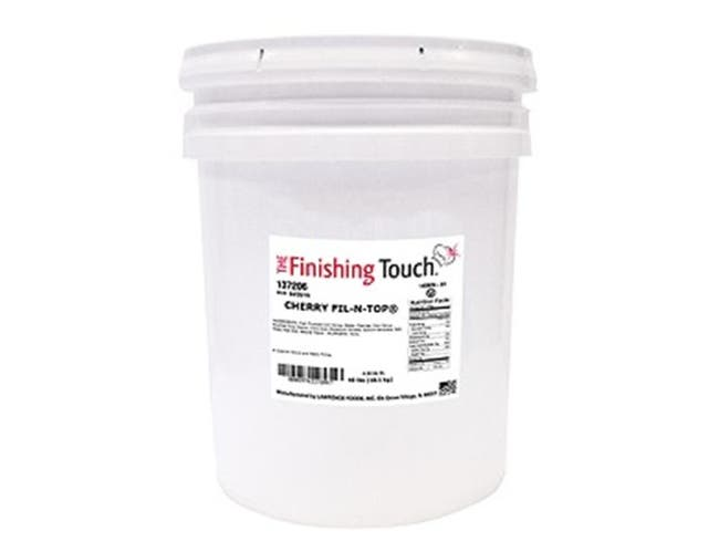 Lawrence Foods Cherry Filling, 4.25 Gallon Pail -- 1 each.