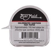 Bar Maid Sani Maid Chlorinated Sanitizer Test Paper - 100 per pack -- 12 packs per case.