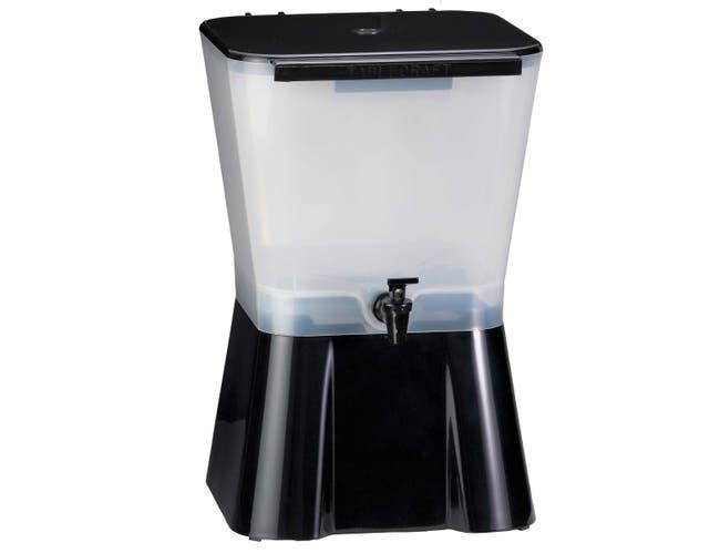 3 Gallon Black Plastic Beverage Dispenser -- 1 each