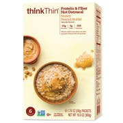 Thinkthin Honey Peanut Butter Oatmeal, 10.58 Ounce -- 6 per case.