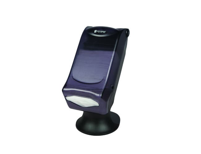 San Jamar Venue Fullfold Control Face Dispenser with Stand, Black Pearl, 17 1/2 x 8 x 13 inch -- 1 each.