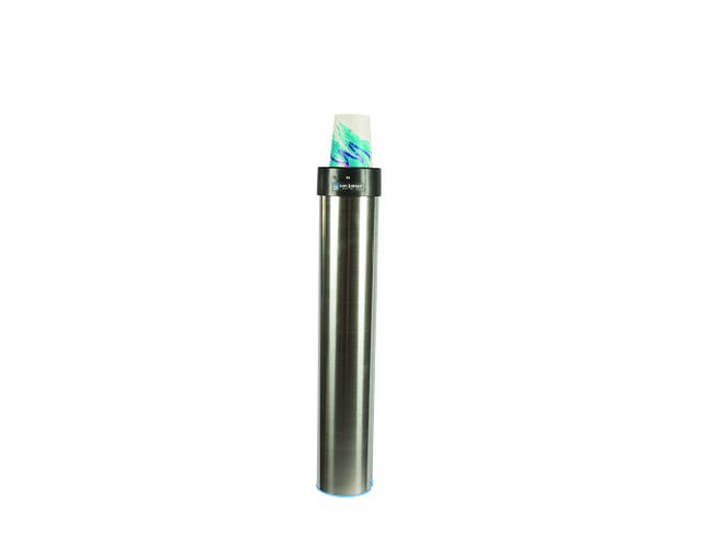 San Jamar Adjustable Surface Mount Elevator Vertical Beverage Cup Dispenser, 12 to 24 Ounce -- 1 each.