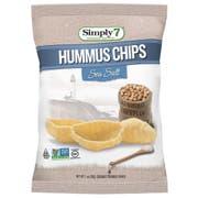 Simply7 Sea Salt Hummus Chips, 1 Ounce -- 6 per case.