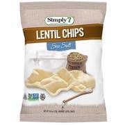 Simply7 Sea Salt Lentil Chips, 0.8 Ounce -- 6 per case.