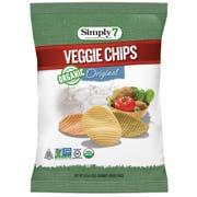 Simply7 Organic Original Veggie Chips, 1.25 Ounce -- 6 per case.