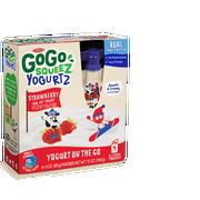 Materne GoGo Squeez 12 Ounce Strawberry Yogurtz, 4 count per pack -- 12 per case.