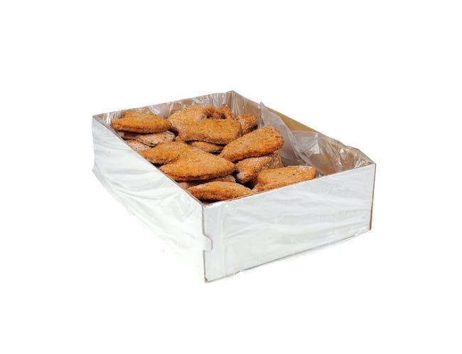 Advance Food Breaded Pork Patties, 3.75 Ounce -- 40 per case.