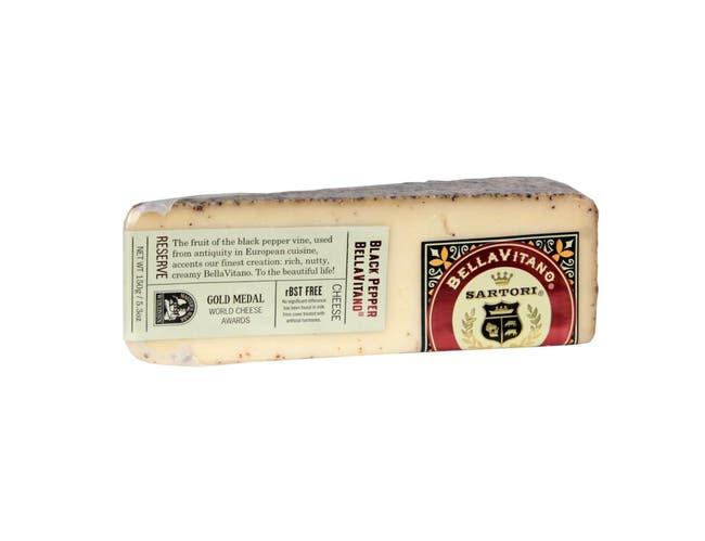 Sartori Reserve Black Pepper BellaVitano Cheese Wedge, 5.3 Ounce -- 12 per case.
