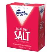 Diamond Crystal Plain Table Salt - 4 lb. box, 12 per case