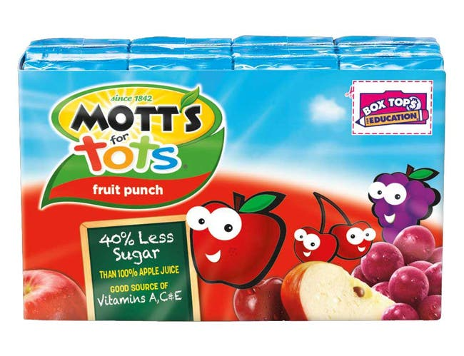 Motts for Tots Fruit Punch Juice, 6.75 Ounce -- 32 per case.
