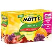 Motts Fruit Punch 100 Percent Juice, 6.75 Ounce -- 32 per case.
