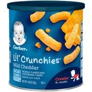 Gerber Graduates Lil Crunchies Cheddar Snack, 1.48 Ounce -- 6 per case.