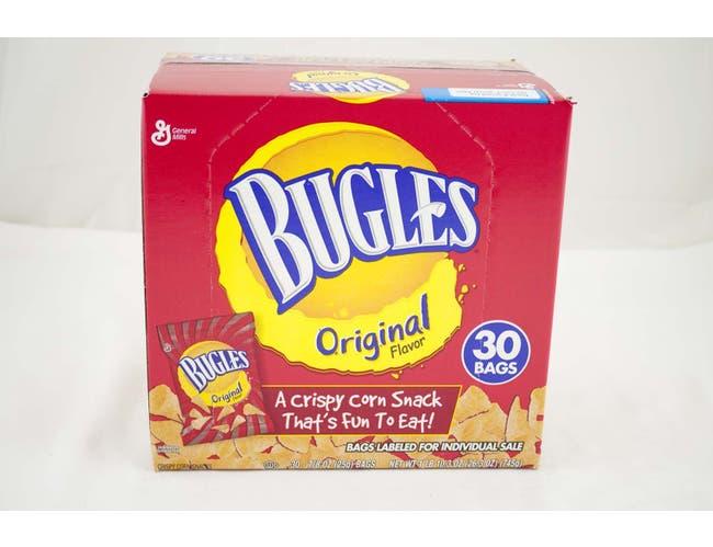 Bugles Original Flavor Crispy Corn Snack, 26.3 Ounce -- 80 per case.