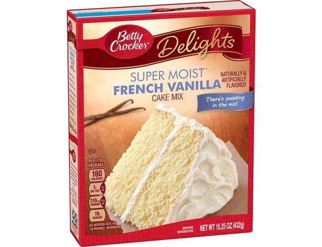 Betty Crocker Supermoist French Vanilla Cake Mix, 15.25 Ounce -- 12 per case.