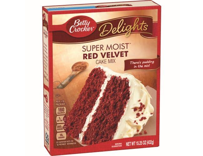 Betty Crocker Super Moist Red Velvet Cake Mix, 15.25 Ounce -- 12 per case.