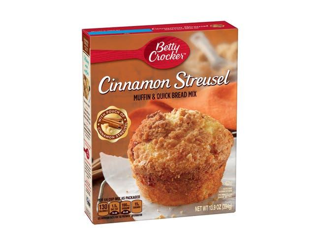 Betty Crocker Cinnamon Streusel Muffin Mix, 13.9 Ounce -- 12 per case.