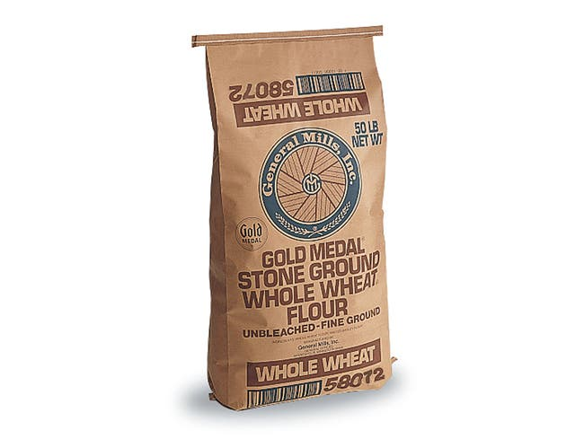 Gold Medal Untreated Fine Whole Wheat Flour, 50 Pound -- 1 each.
