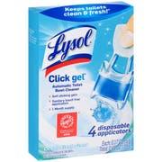 LYSOL Brand Click Gel Automatic Toilet Bowl Cleaner, Ocean Fresh, 0.16 oz, 4/Box